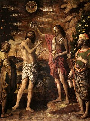 Baptism of Jesus - Andrea Mantegna - Baptism of Christ