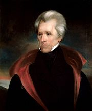 Andrew Jackson, founder of the Democratic Party and seventh President of the United States