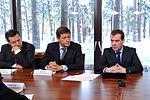 Andrey Makarov, Aleksandr Zhukov and Dmitry Medvedev 22 January 2013.jpeg