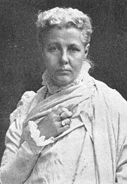 Annie Wood Besant (1847 - 1933), discípula favorita e sucessora de Blavatsky na liderança da Sociedade Teosófica.