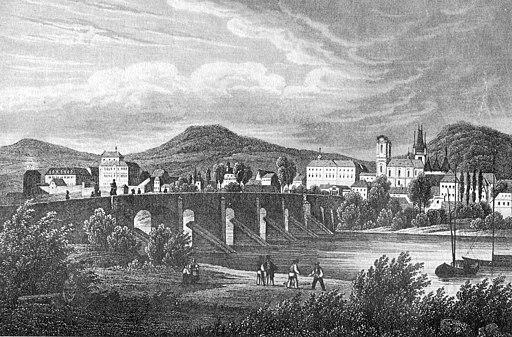 Ansicht Leitmeritz um 1850