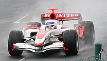 Photo d'Anthony Davidson sur SA07 en test à Spa en 2007