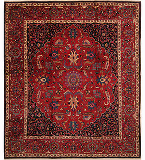 English: Antique Persian Mashad rug measuring ...