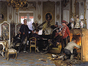 Anton von Werner - Im Etappenquartier vor Paris (A Billet Outside Paris; 1894)