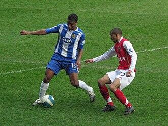 Gaël Clichy - Clichy defending against Antonio Valencia in the 2007–08 season.