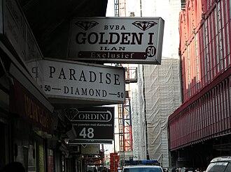 Antwerp diamond district - Diamond shops