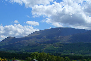 Aonach Mòr - Distant shot of Aonach Mòr from Banavie
