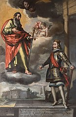 Saint Ferdinand presenting to Saint Paul the foundation of the Dominican convent of Córdoba