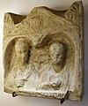 Ara sepolcrale frammentaria con busti di coniugi, da glem, I secolo dc.jpg