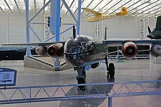 Arado Ar 234 - 140312 on display at the Steven F. Udvar-Hazy Center in 2007