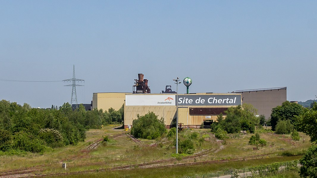 ArcelorMittal - Site de Chertal - north-east of Liege on the island Chertal, seen from highway E40