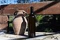 Archangelos Αρχάγγελος Rhodes Ρόδος 2019-11-27 17 a bottle of fresh olive oil and an amphora.jpg