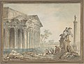 Architectural Capriccio with Roman Monuments and Washerwomen MET DP808080.jpg