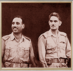 14 July Revolution - Abdul Salam Arif and Abd al-Karim Qasim, the leaders of the revolution.