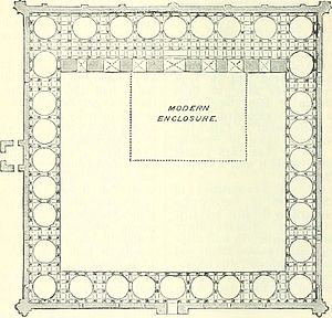 Adhai Din Ka Jhonpra - Plan of the building