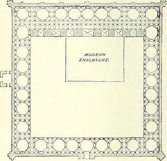 Adhai Din Ka Jhonpra - Plan of the building