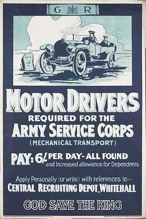 Royal Army Service Corps - 1915 recruiting poster