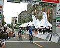 Arrivée première étape Tour de Romandie 2009.jpg