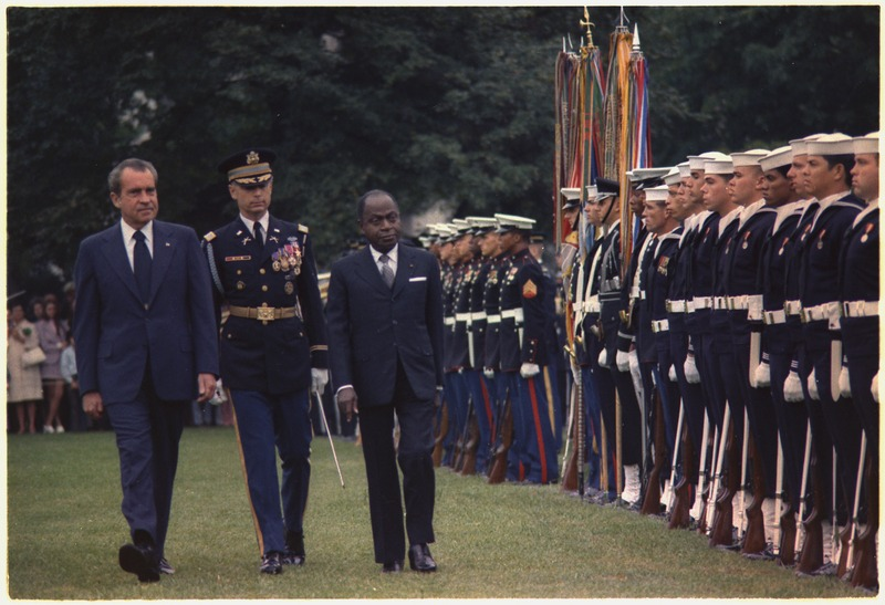 bf929c8fc253c Félix Houphouët-Boigny with U.S. President Richard Nixon in 1973 — Photo   Schumacher