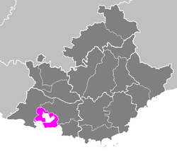 Location of Istres in Provence-Alpes-Côte d'Azur