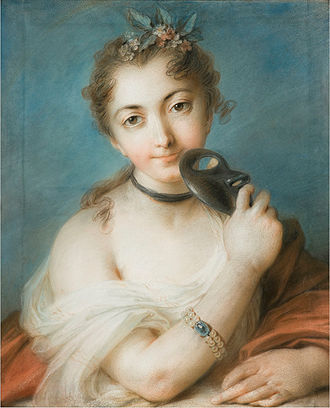 Rosalba Carriera - Female Portrait with Mask, (Fondazione Cariplo).