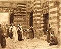 Arthur Ferraris - Visit of the Grand Sheikh to the Cairo University, 1890.jpg