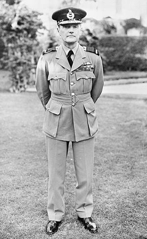 Arthur Longmore - Air Chief Marshal Sir Arthur Longmore, Air Officer Commanding-in-Chief Middle East Command, standing in the gardens of Air Headquarters, Middle East Command, in Cairo.