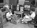 Arthur Snell and Frances Pleasonton with neutron decay counter.jpg