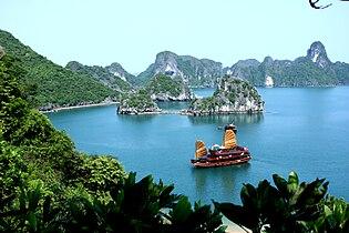 Asia Cruise Junk in Halong bay.JPG