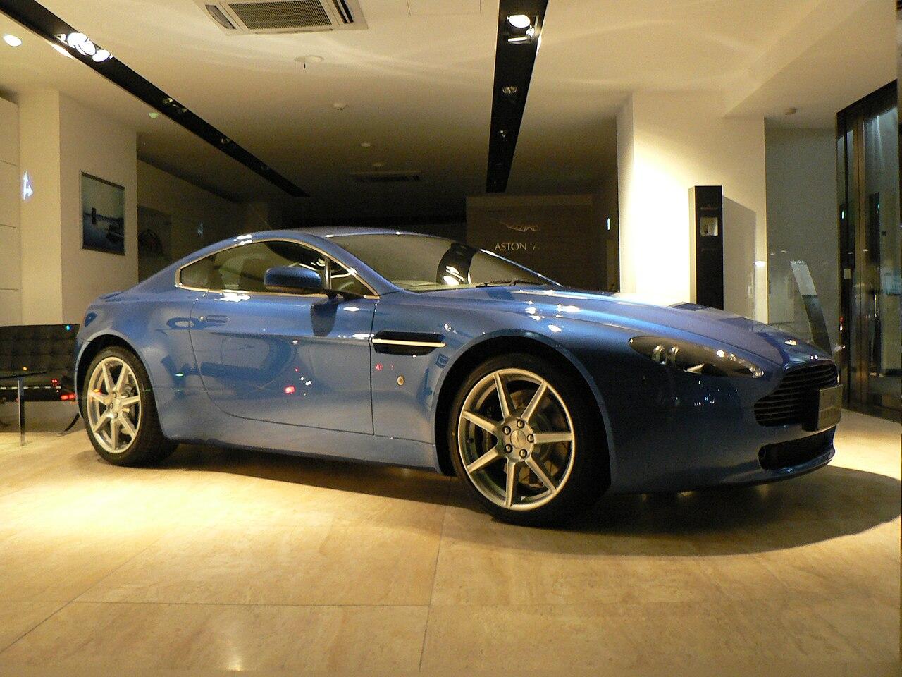 File Aston Martin V8 Vantage Blue Jpg Wikimedia Commons