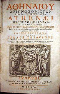 <i>Deipnosophistae</i> work by ancient greek author Athenaios