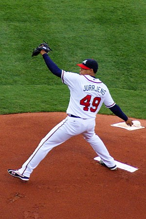 Jair Jurrjens - Jurrjens pitching for the Atlanta Braves in 2009
