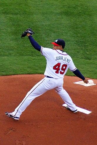 Jair Jurrjens - Jurrjens pitching for the Atlanta Braves in 2009