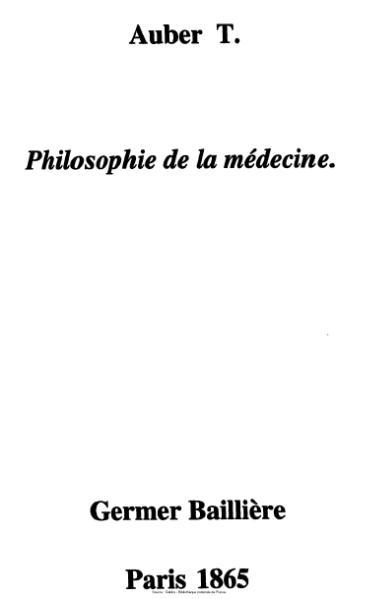 File:Auber - Philosophie de la médecine.djvu