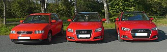 Audi A3 - Audi A3 8L, 8P and 8V (1st, 2nd and 3rd generation)