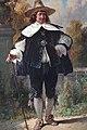 August Gerasch - Galanter Herr mit Hut und Stock.jpg