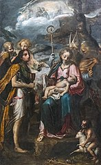 Madonna with child and the mystery of the Passion