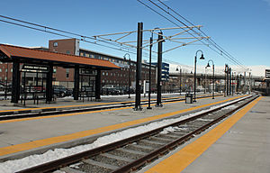 Auraria West station - The Auraria West RTD Light Rail station in 2011.