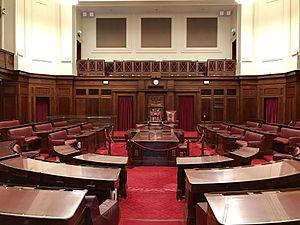 Debating chamber of the Senate