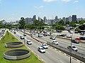 Avenida 23 de Maio, noroeste de São Paulo visto da passarela Ciccillo Matarazzo - panoramio.jpg