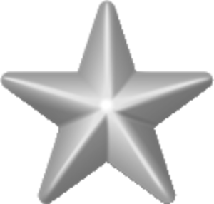 """V"" device - Image: Award star silver 3d"