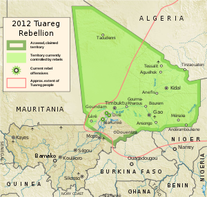Azawad Tuareg rebellion 2012 - 2.svg