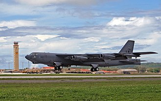 Andersen Air Force Base - A B-52 from Barksdale AFB takes off from Andersen in 2007