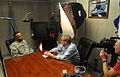 BBC reporter Peter Taylor interviews Guantanamo Warden Donnie L. Thomas, 2011-01-06.jpg