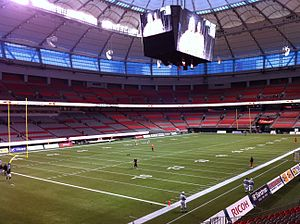 BC Place - The new BC Place prior to the BC Lions opener on September 30, 2011