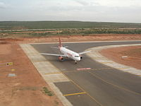 BIAL Indian Airlines waiting for takeoff.jpg