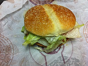 Burger King grilled chicken sandwiches - The original version of the TenderGrill sandwich.