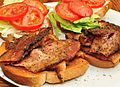 BLT sandwich prepared with pepper bacon.jpg