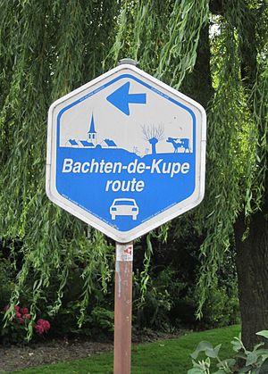 West Flemish - Image: Bachten de Kupe route