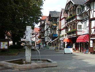 Bad Sooden-Allendorf - Pedestrian precinct in Bad Sooden-Allendorf